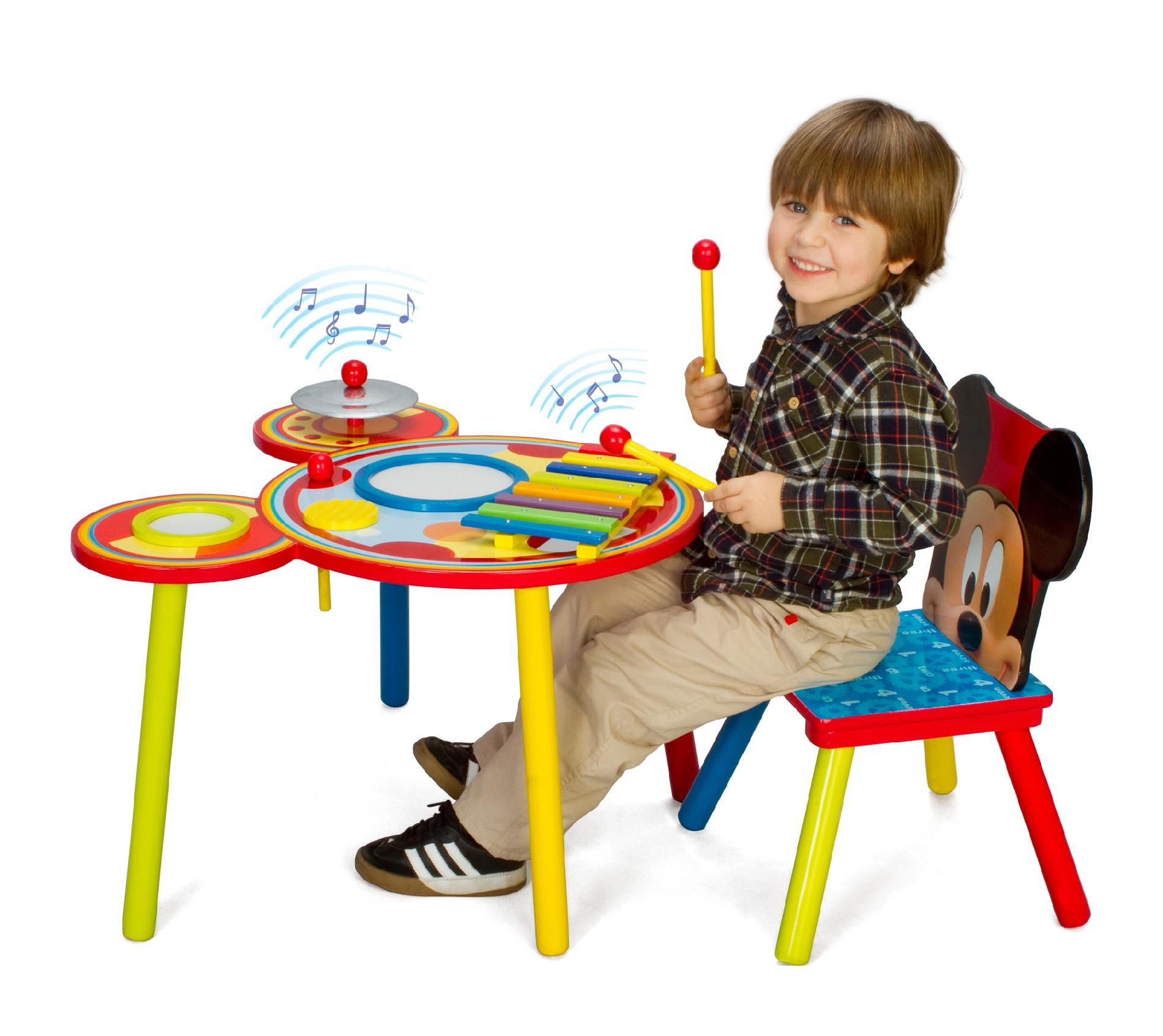 mickey mouse chairs and table carolina panthers folding delta children disney musical 1 chair