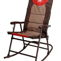Folding Camp Rocking Chair High Tray Campsite Portable Stylish Seating From Kmart