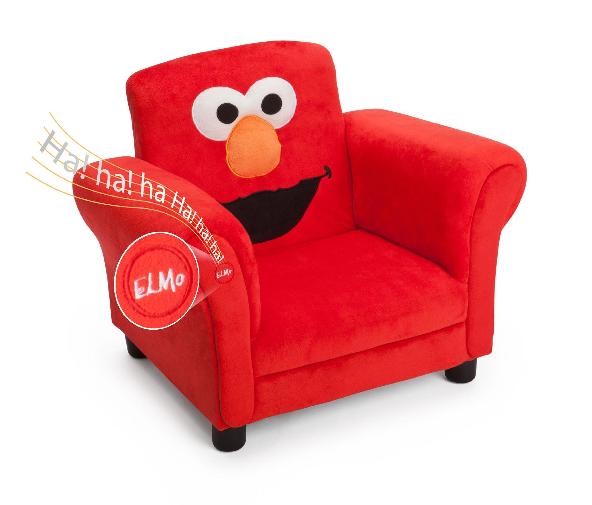 Toddler Chairs Upholstered Delta Children Sesame Street Elmo Giggle Upholstered Chair With