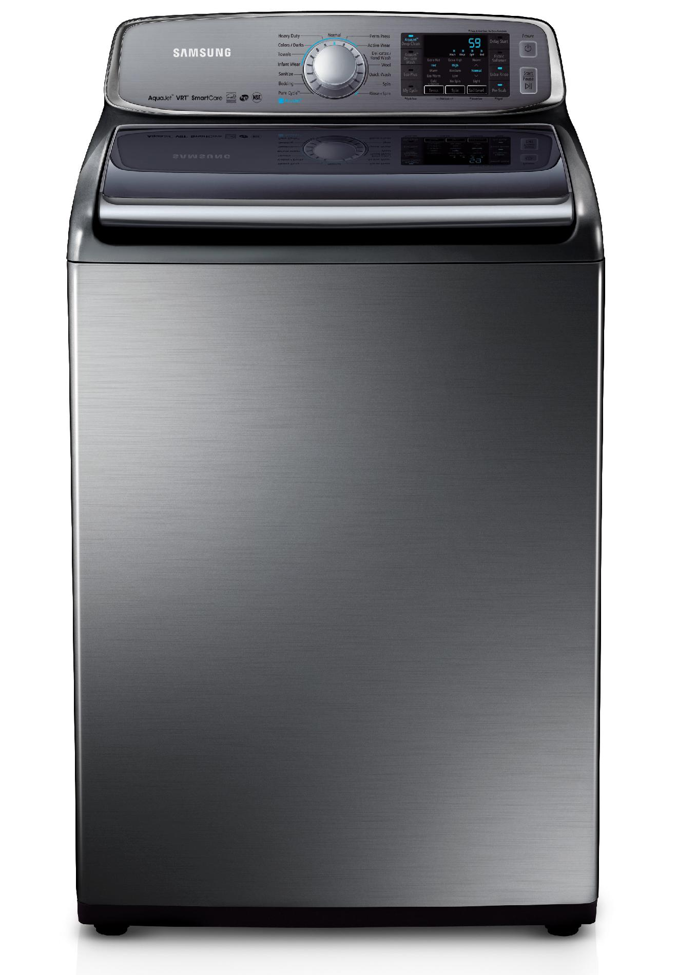 Samsung - Wa50f9a8dsp 5.0 Cu. Ft. Top-load Washer With Internal Heater Stainless Platinum