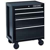 "Craftsman 26"" 4-Drawer Heavy-Duty Rolling Cabinet - Black"