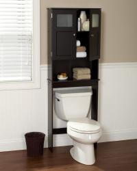 Over Toilet Bath Storage With Glass Doors: Stay Organized ...