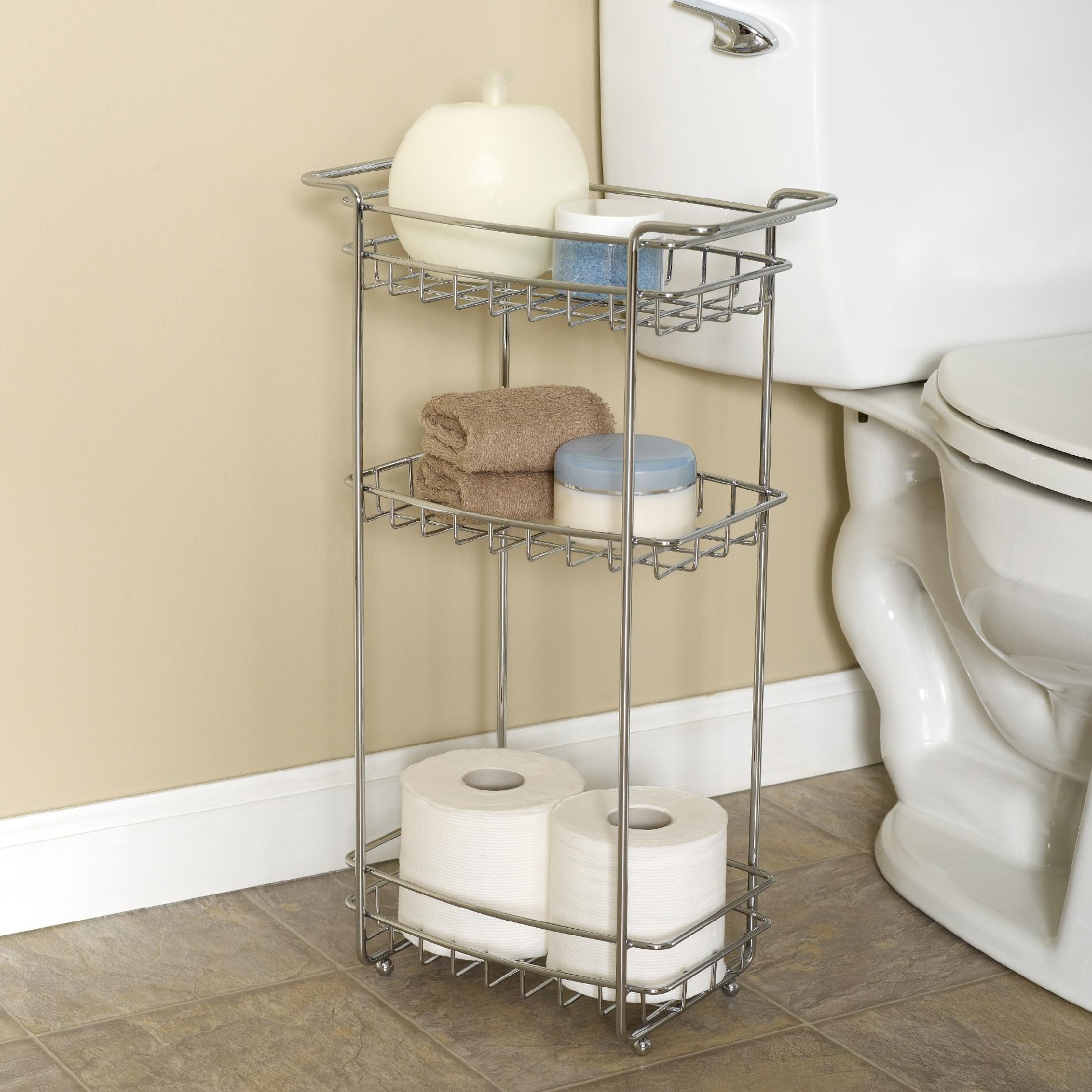 Zenith Products Slimline Floor Stand 3 Shelf Chrome