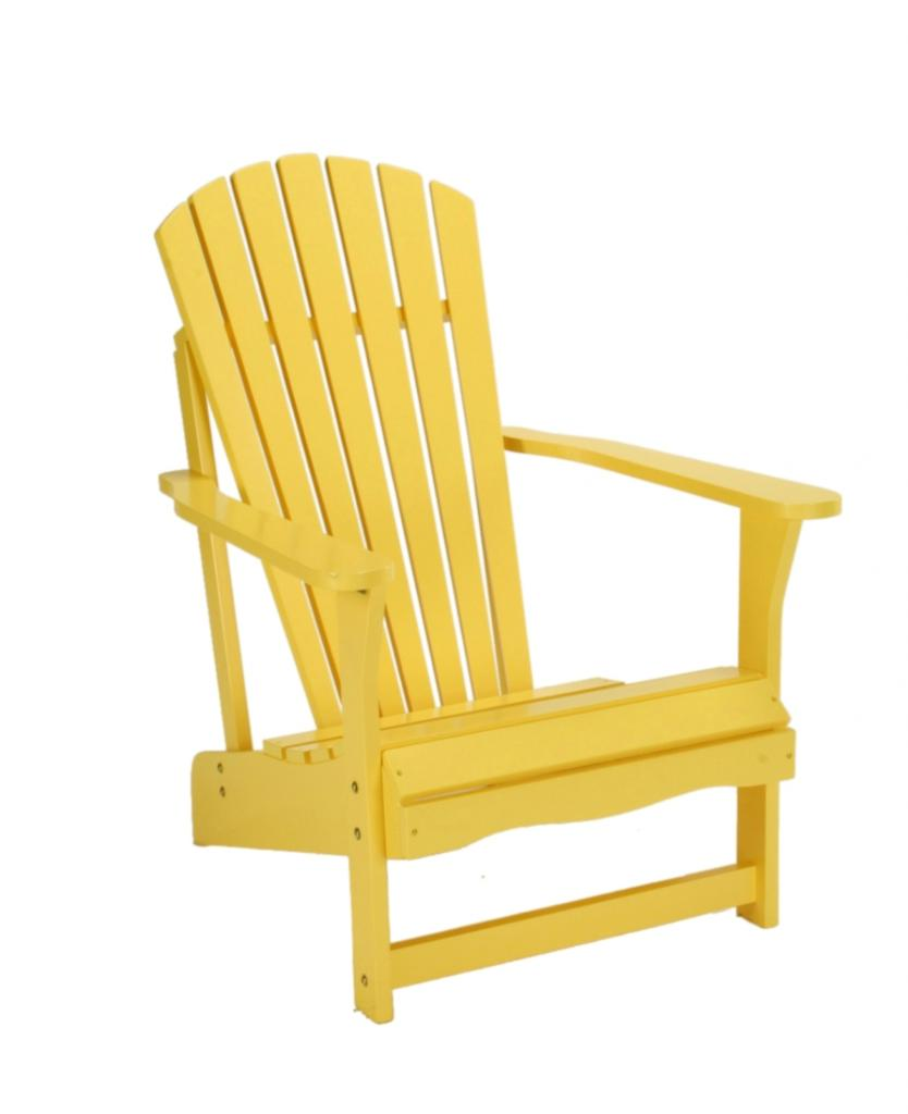 yellow adirondack chairs plastic dining chair with casters international concepts outdoor