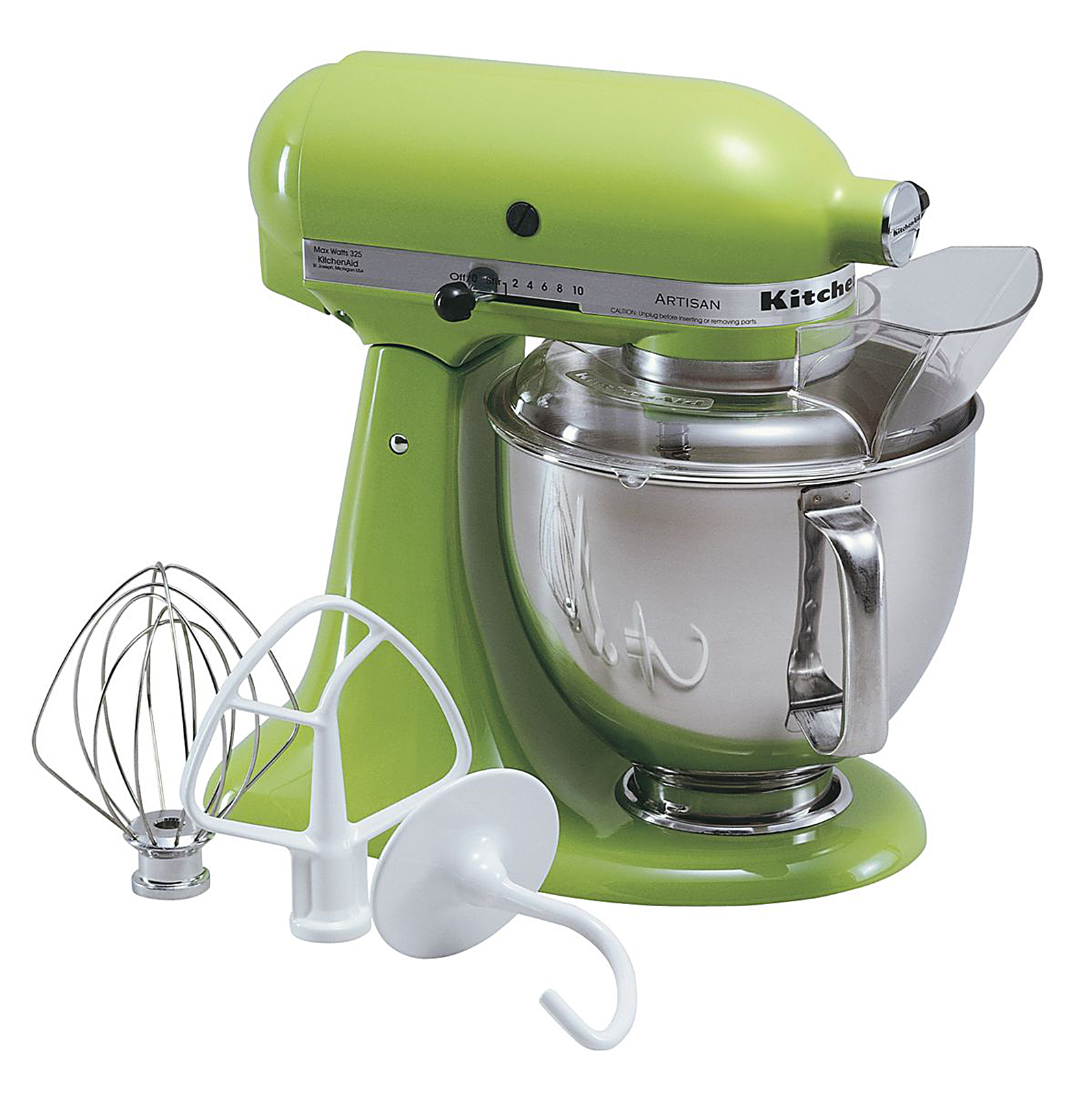 kitchen aid standing mixer moen faucets kitchenaid ksm150psga artisan series green apple 5