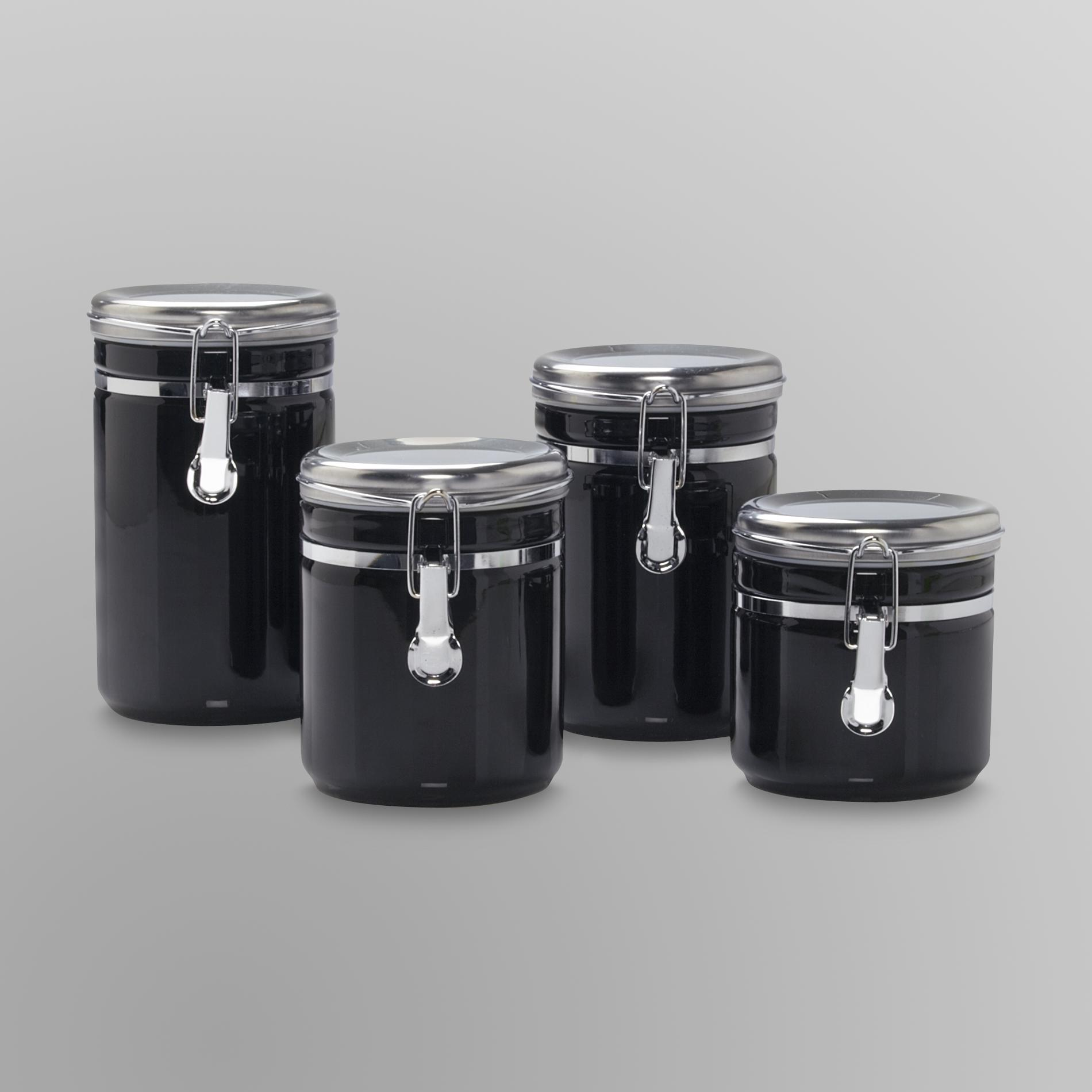 black and white kitchen storage jars trendyexaminer