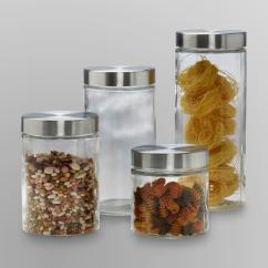 Sears Kitchen Splashback Tiles Anchor Hocking 4-piece Glass Canister Set