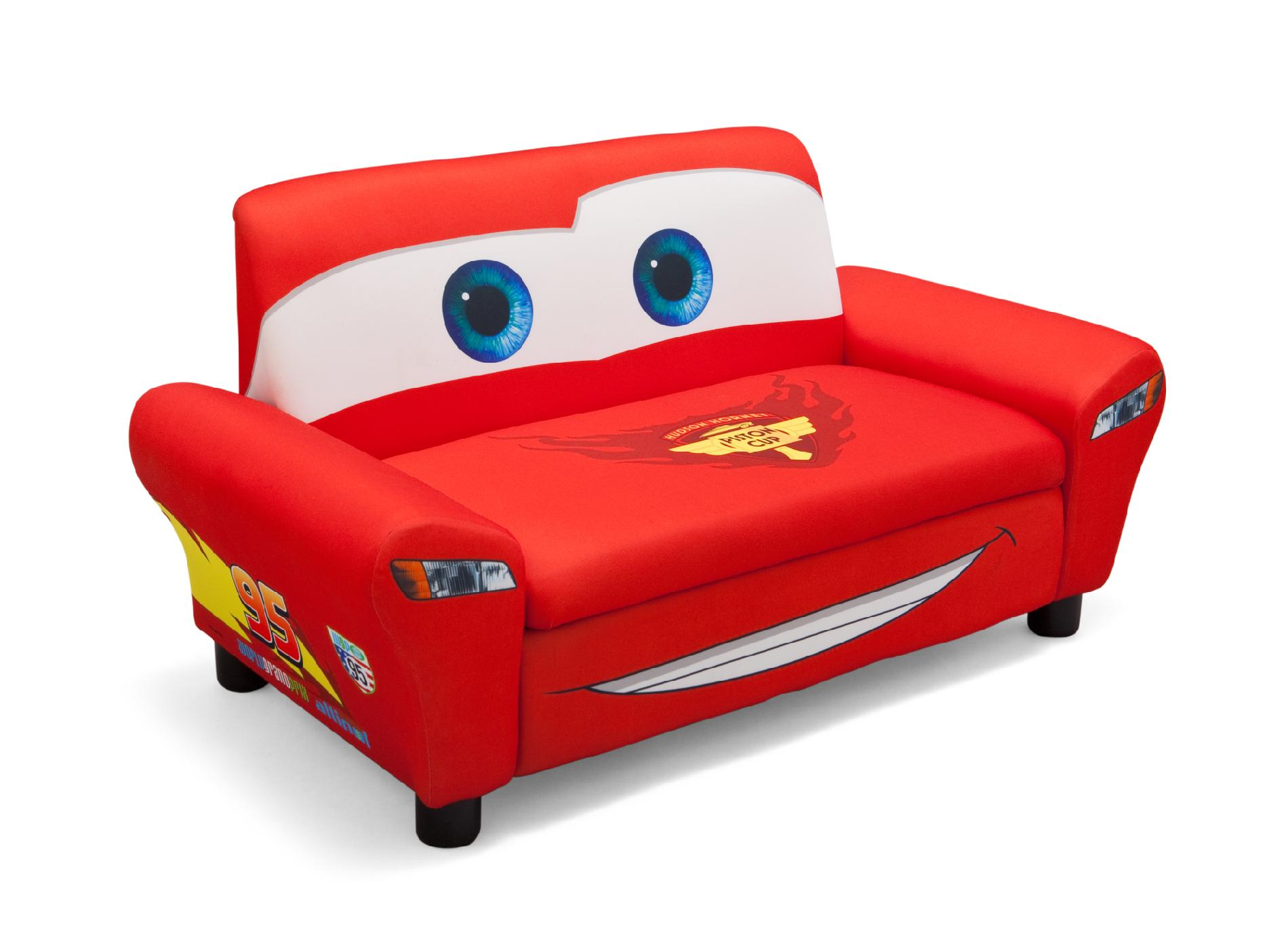 disney cars sofa canada victorian table upholstered with storage