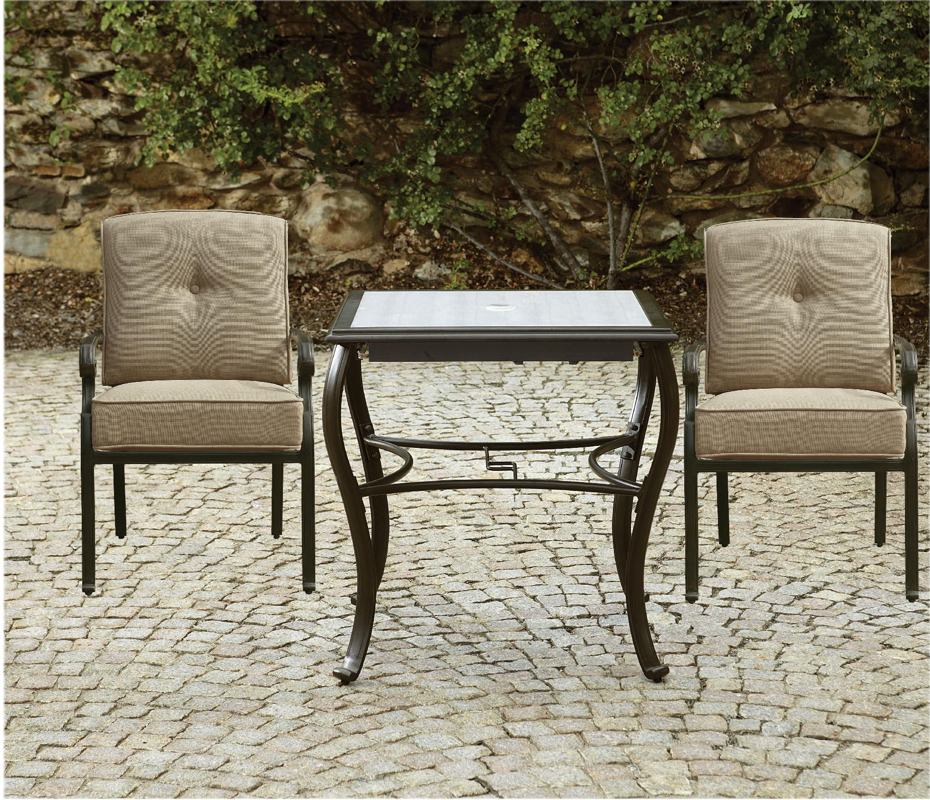 La-boy Outdoor Halley 3pc Bistro Set With Lighted Table