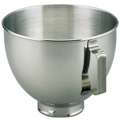 Kitchen Aid Mixing Bowls Color Choices For Cabinets Kitchenaid K45sbwh 4 5 Quart Stainless Steel Bowl