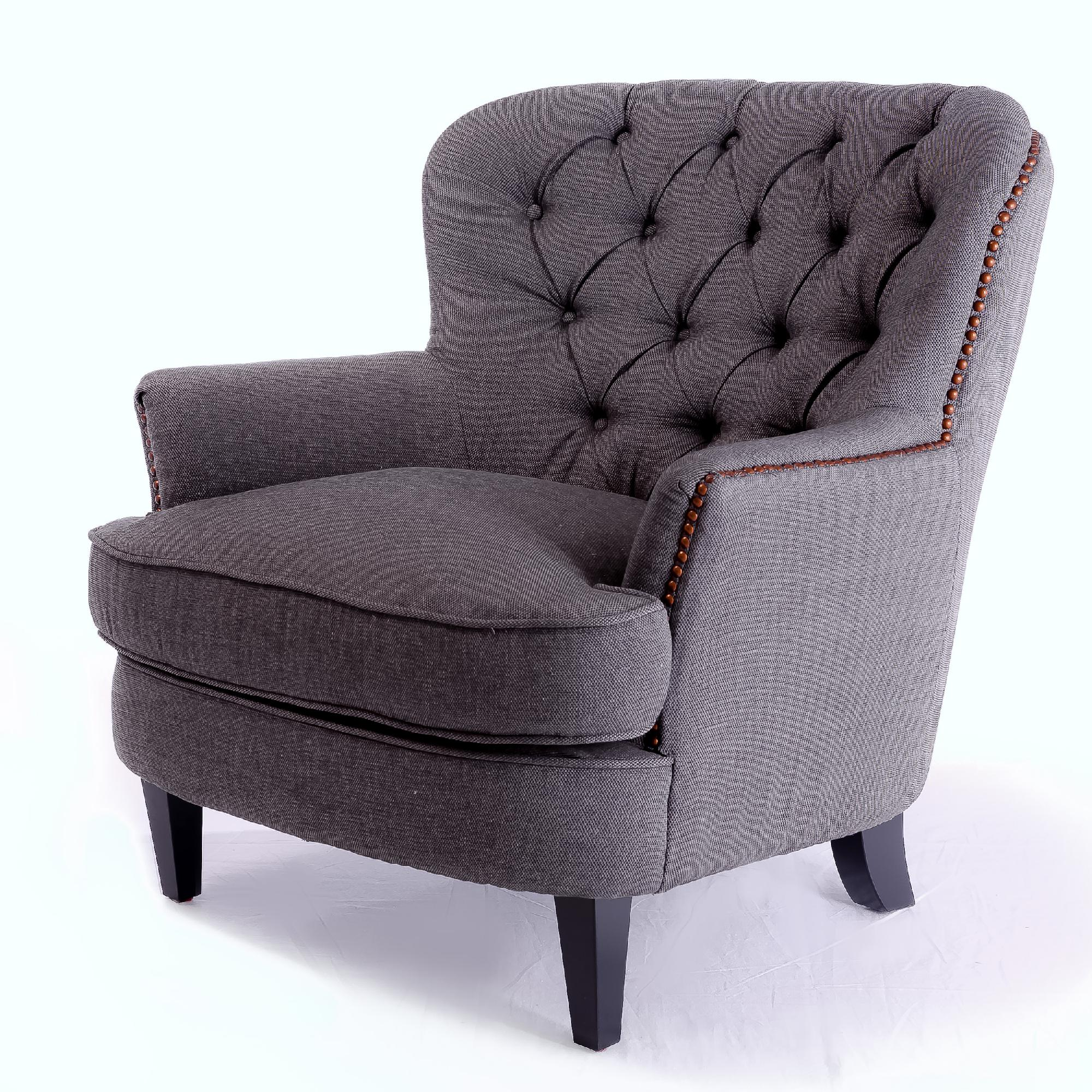 tafton club chair cheap ivory covers gray fabric