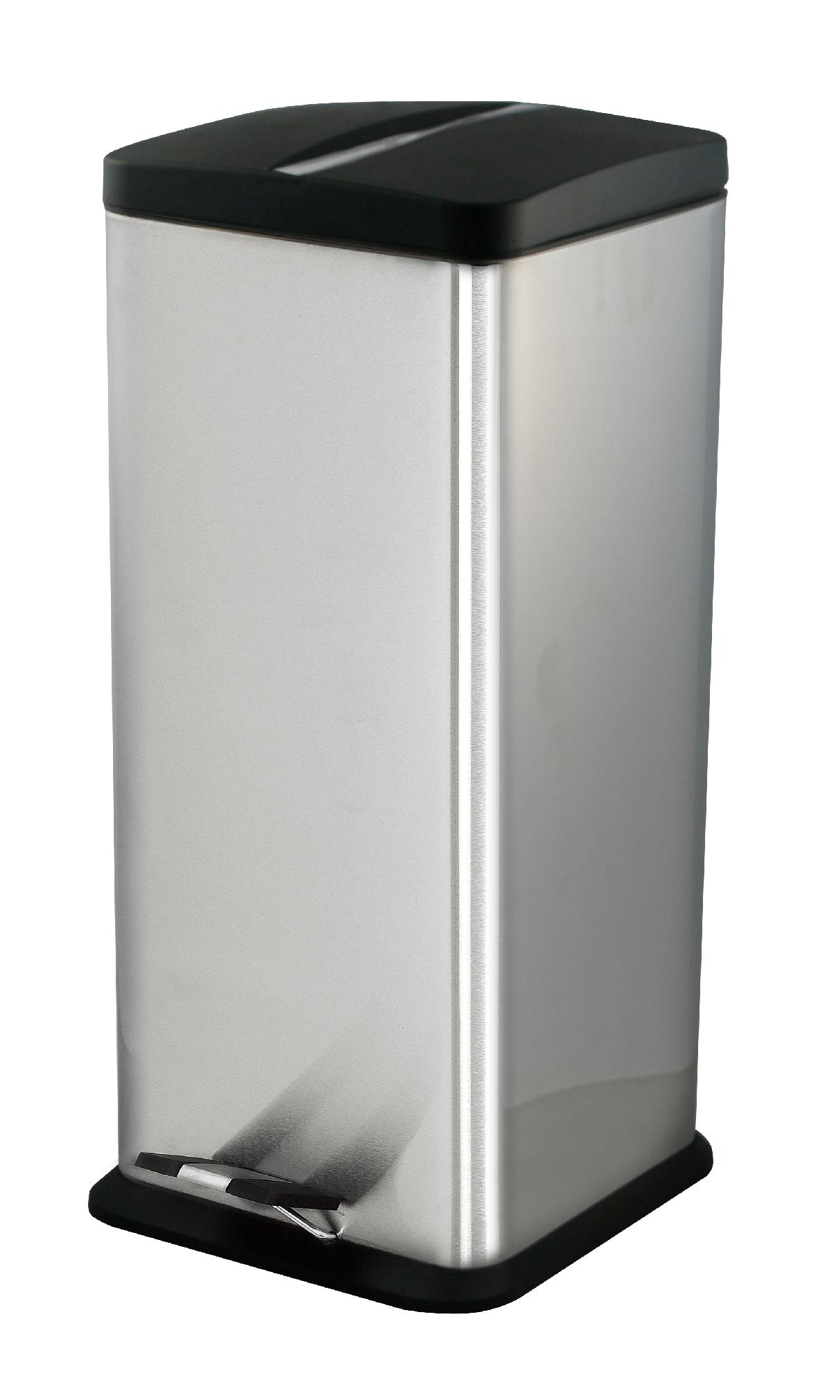 30 gallon kitchen trash can free standing cupboards ragalta 7 9 stainless steel bin home
