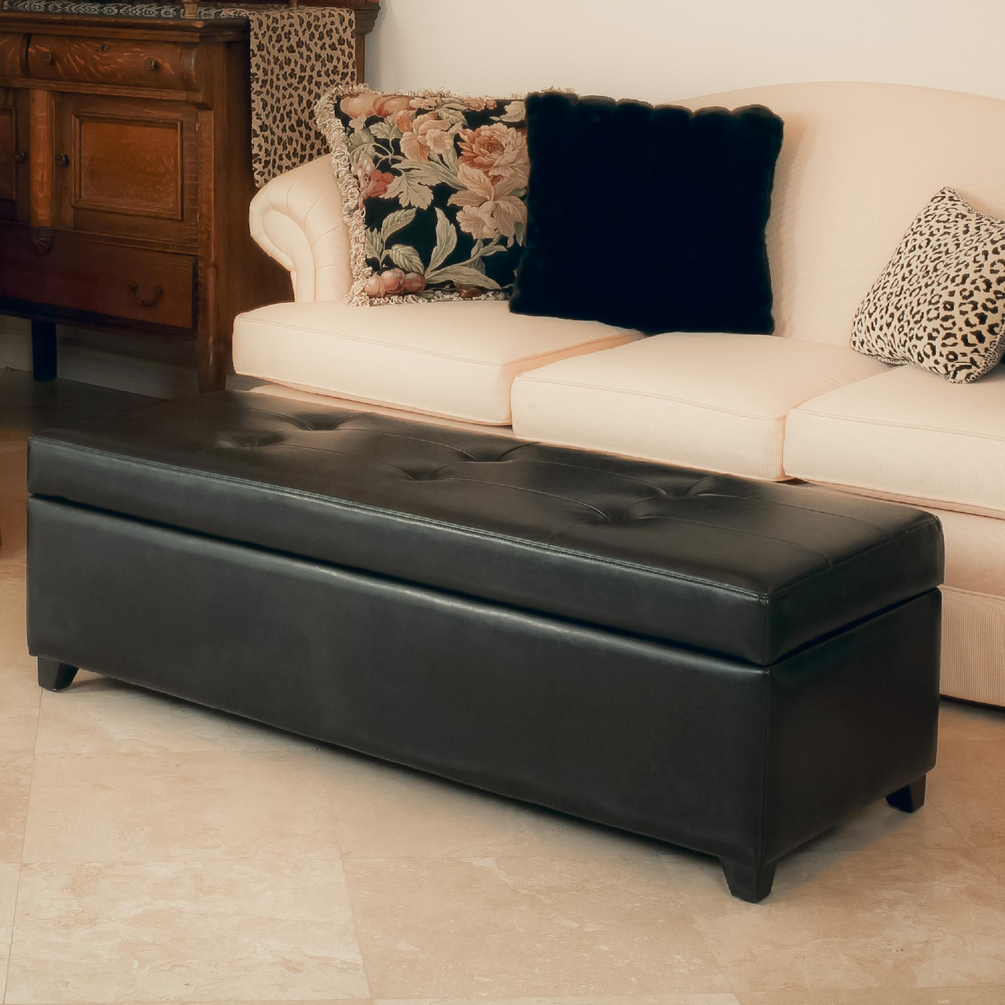leather sofa repair kit canadian tire big w stretch covers london espresso storage ottoman bench home