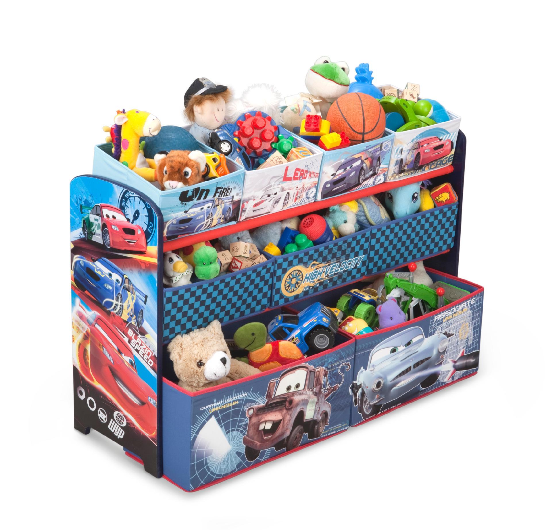 Delta Children Cars Deluxe Multi Bin Organizer - Baby Furniture Nursery Storage