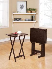 5-pc. Tray Table Set Space Snacks And Serving Dishes