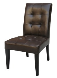 Oxford Creek Faux Tufted Leather Parson Chairs (Set of 2 ...