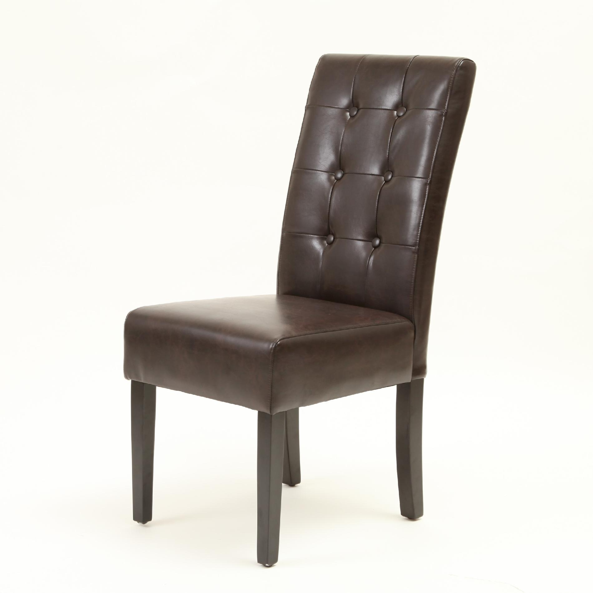 espresso dining chair wheelchair for rent best selling home decor alberta tufted leather