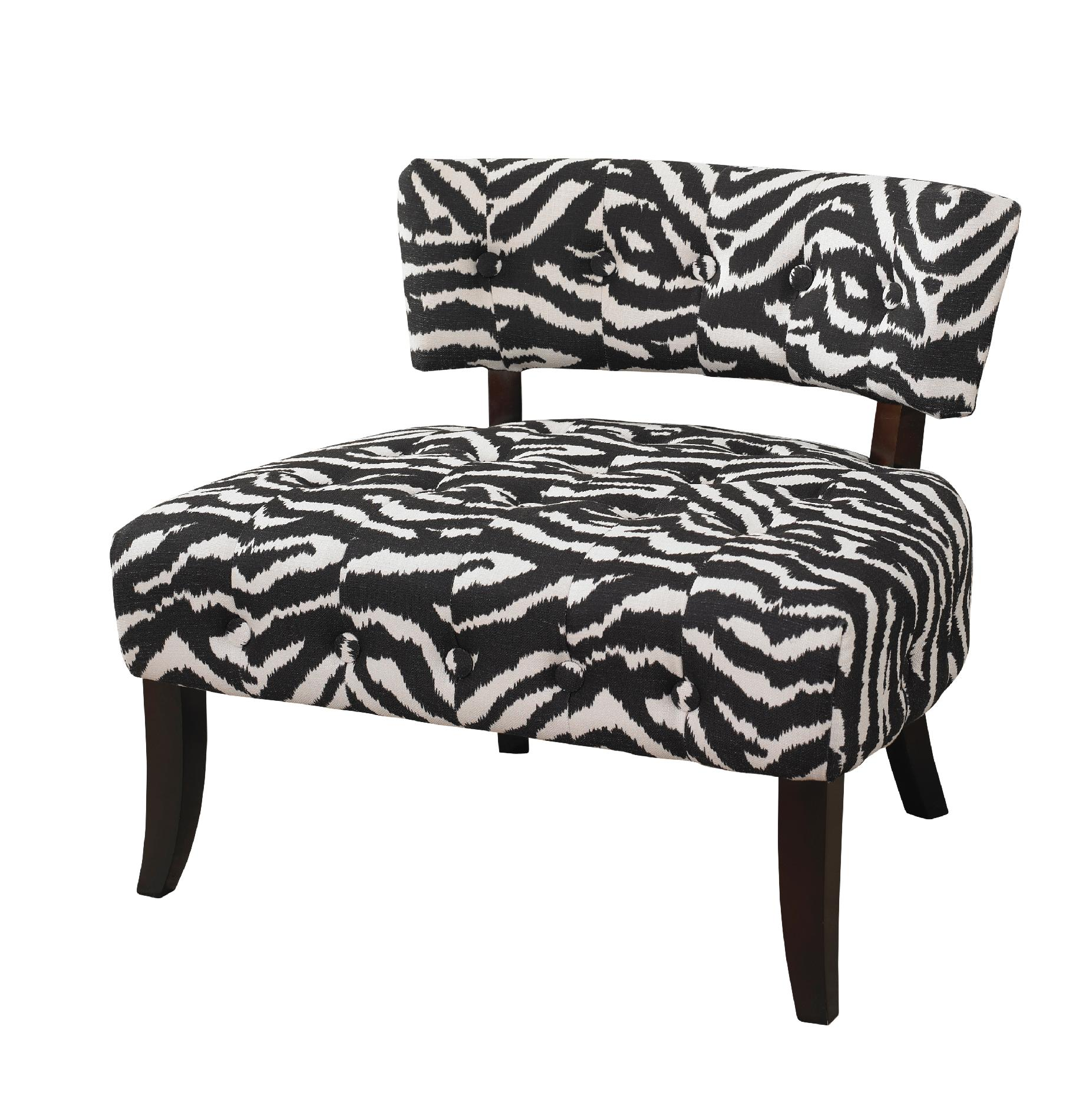 animal print accent chair slipcovers t cushion 2 l powell quotlady slipper quot zebra home