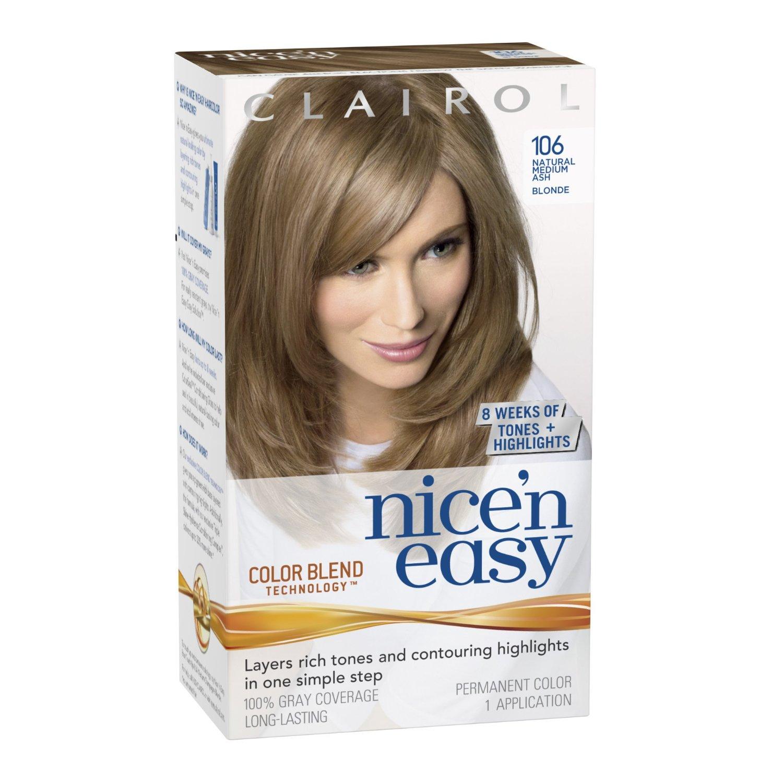 Clairol Nice N Easy Hair Color Natural Medium Ash Blonde