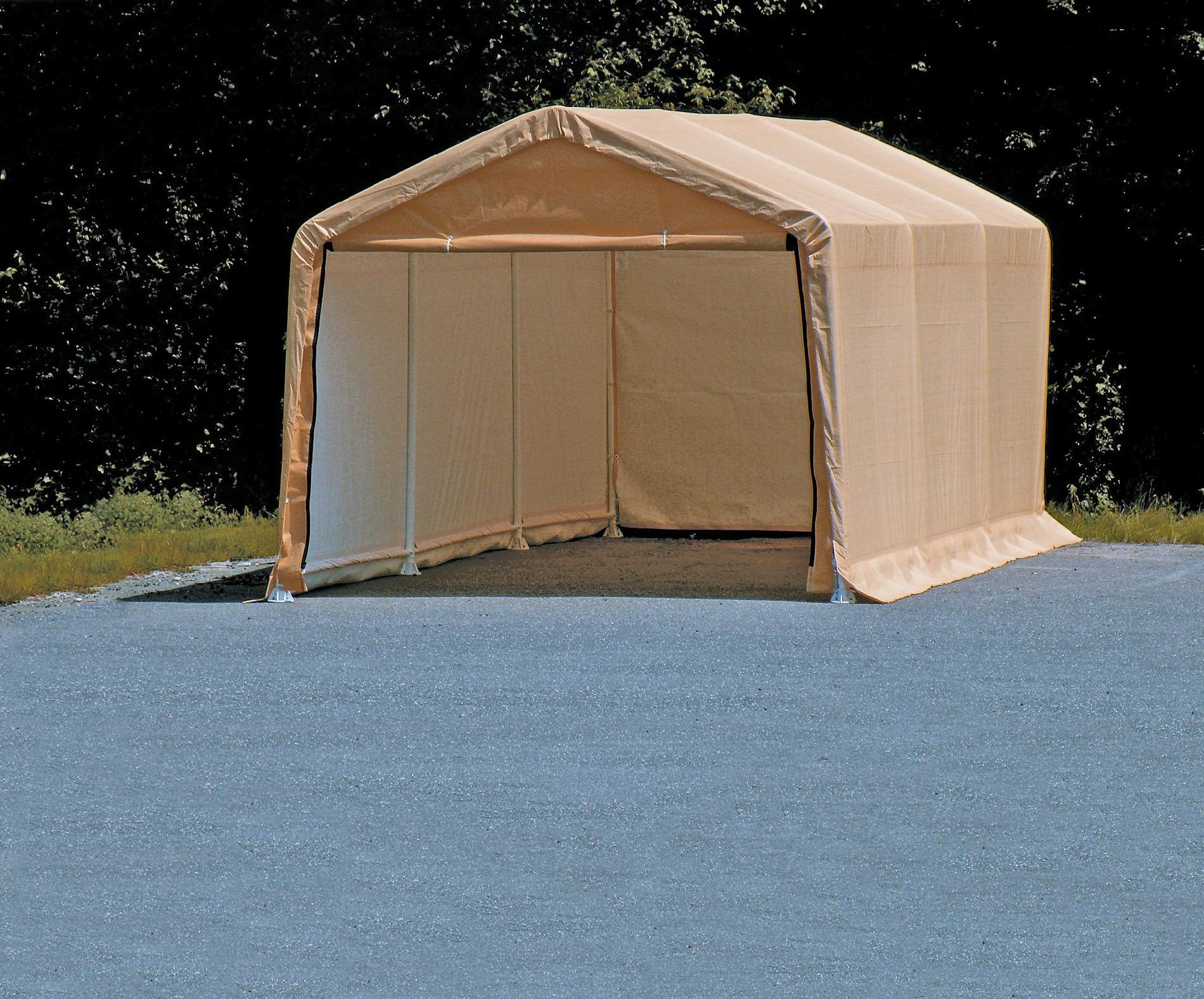 Shelterlogic Autoshelter Tan 62680 10' X 20' Auto Storage Shelter