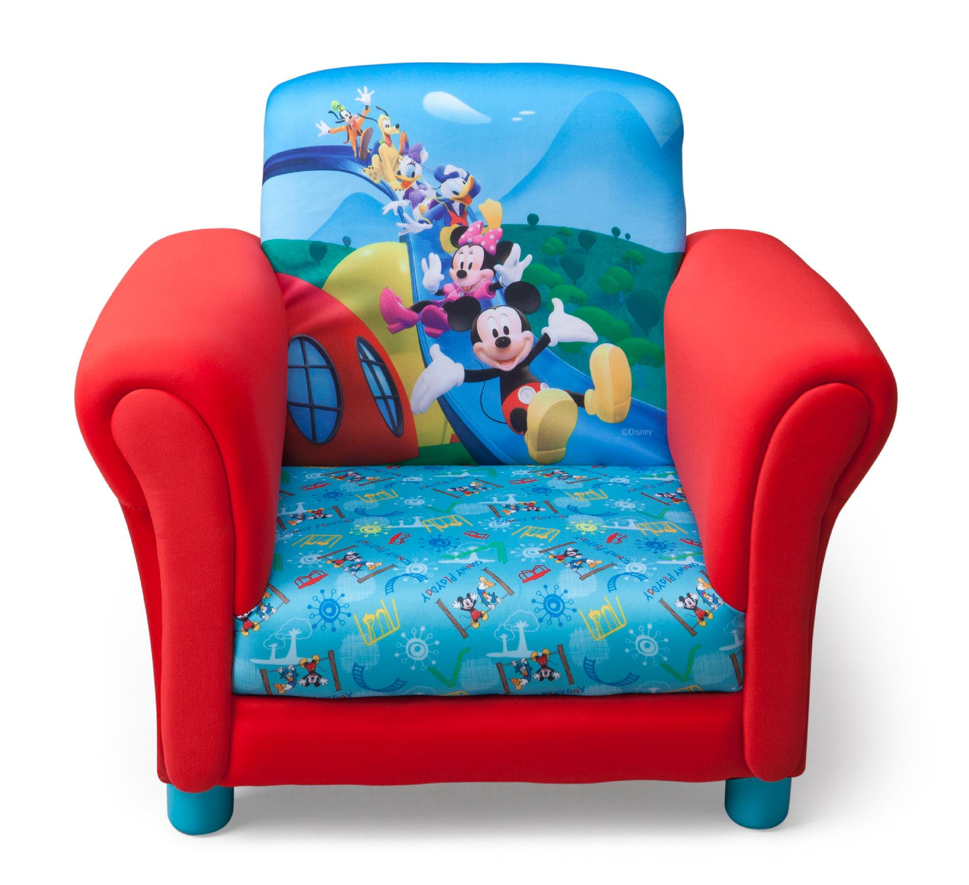 mickey mouse clubhouse chair best executive for lower back pain delta children tc85692mm kids club upholstered disney