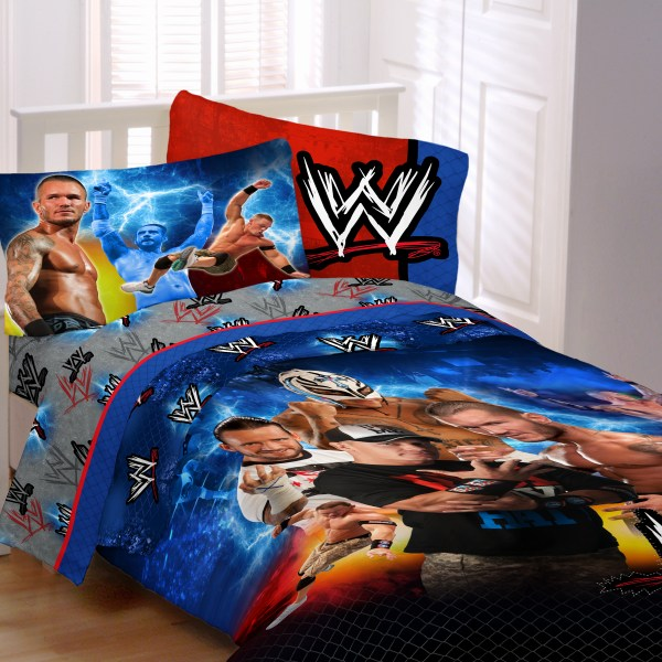 WWE Wrestling Comforter Set Twin Bed