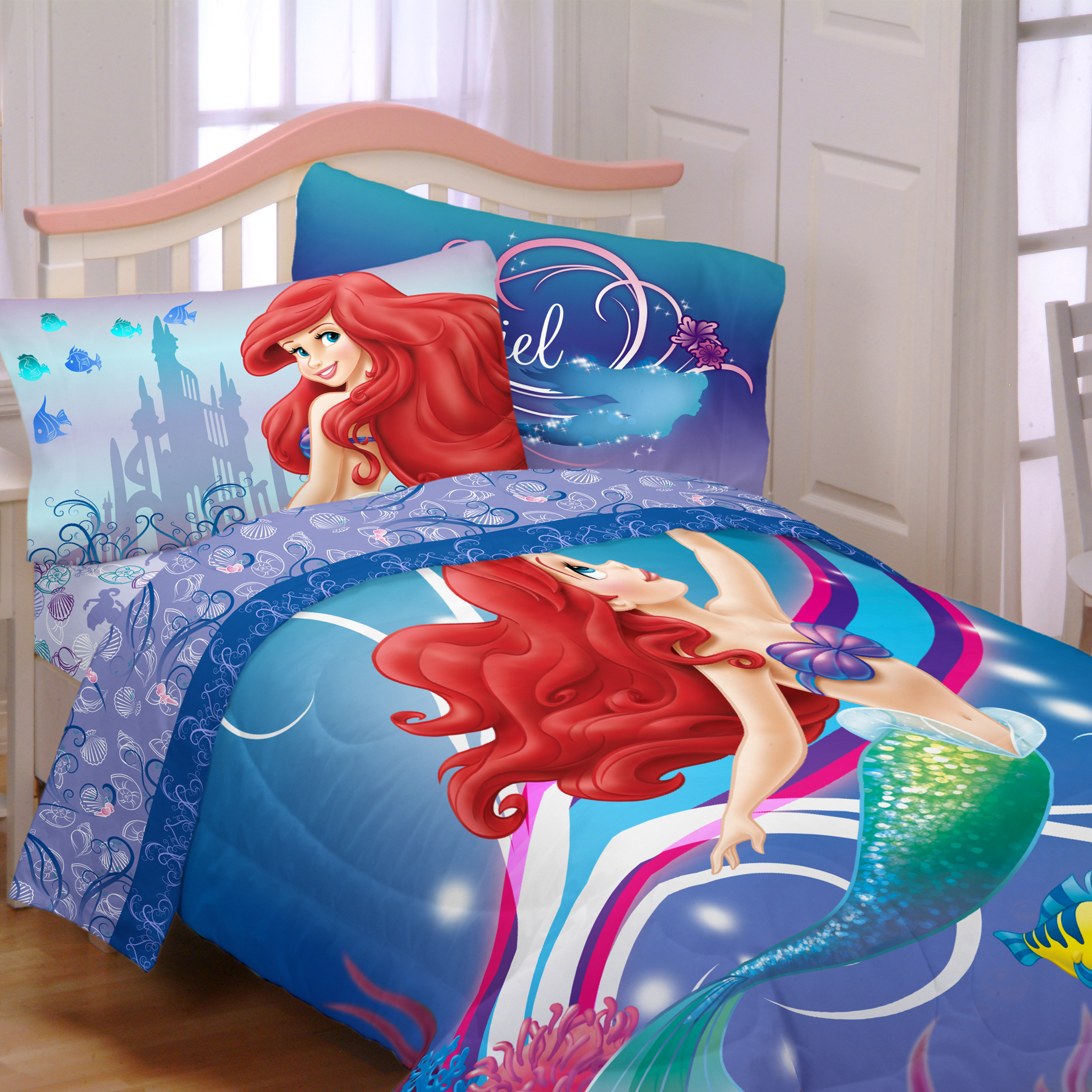 Disney Girls Little Mermaid Twin Comforter