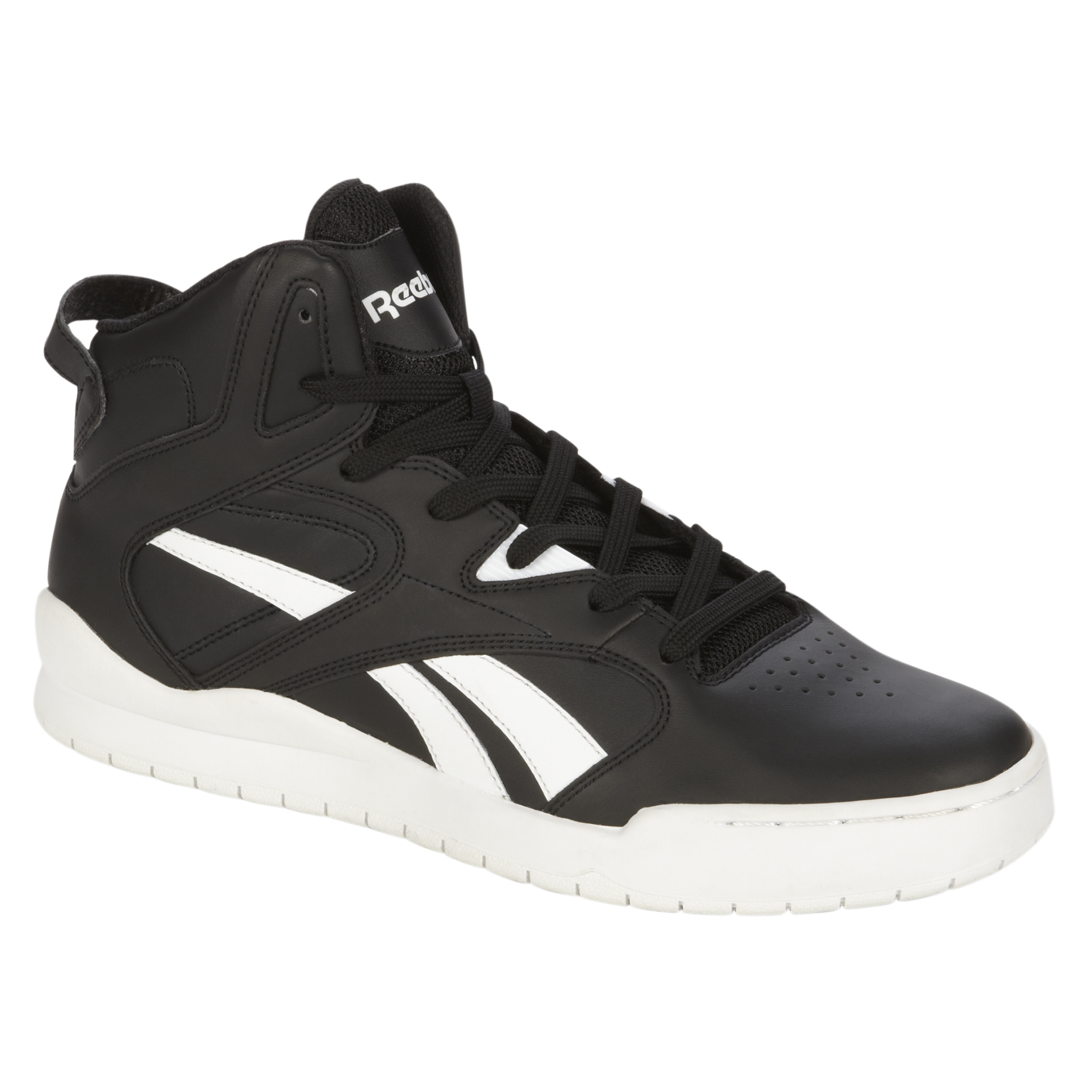 Reebok Men' Bb4700 Mid Black White High-top Basketball Shoes