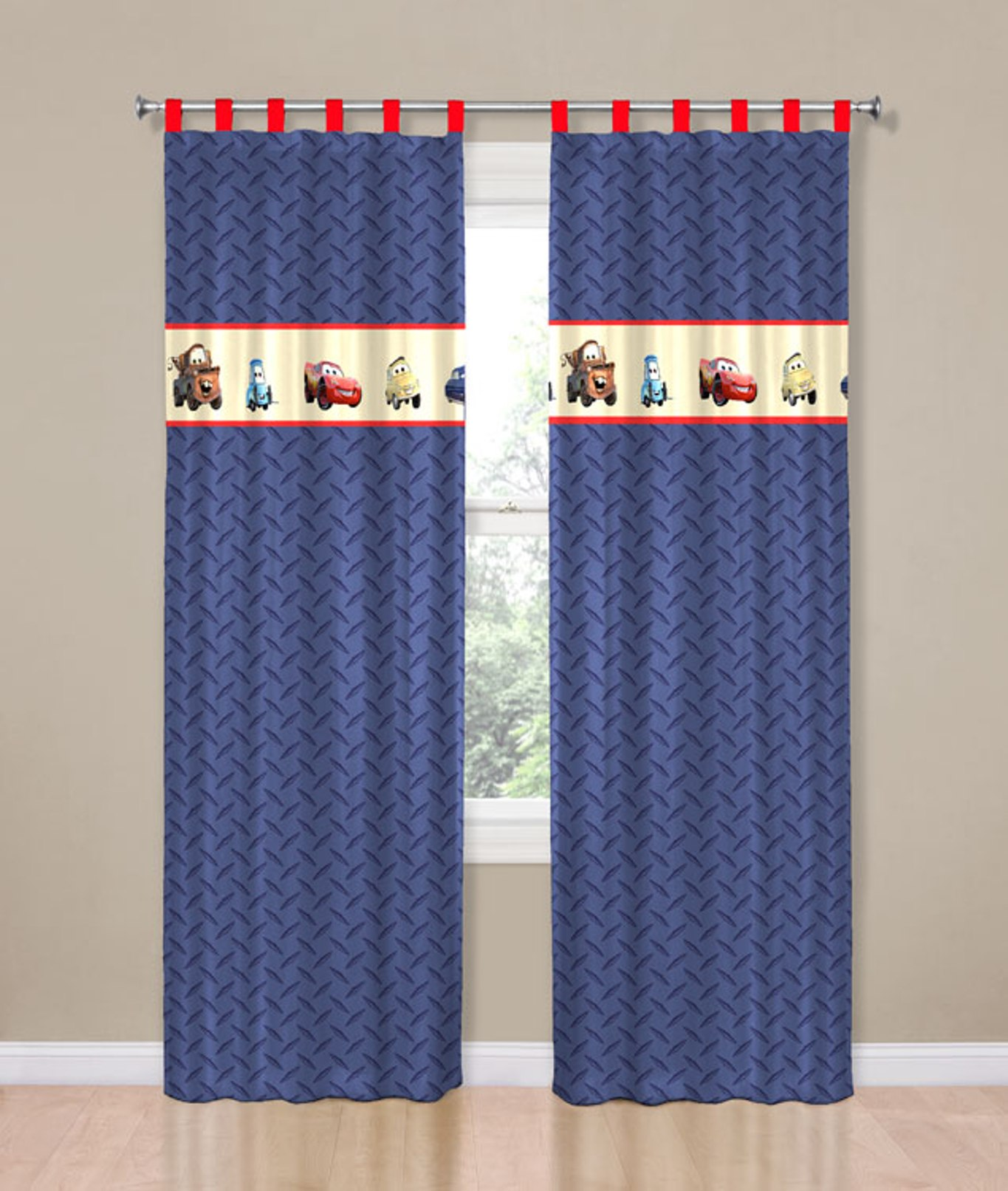 Disney Cars Curtain Panel Home Home Decor Window Treatments