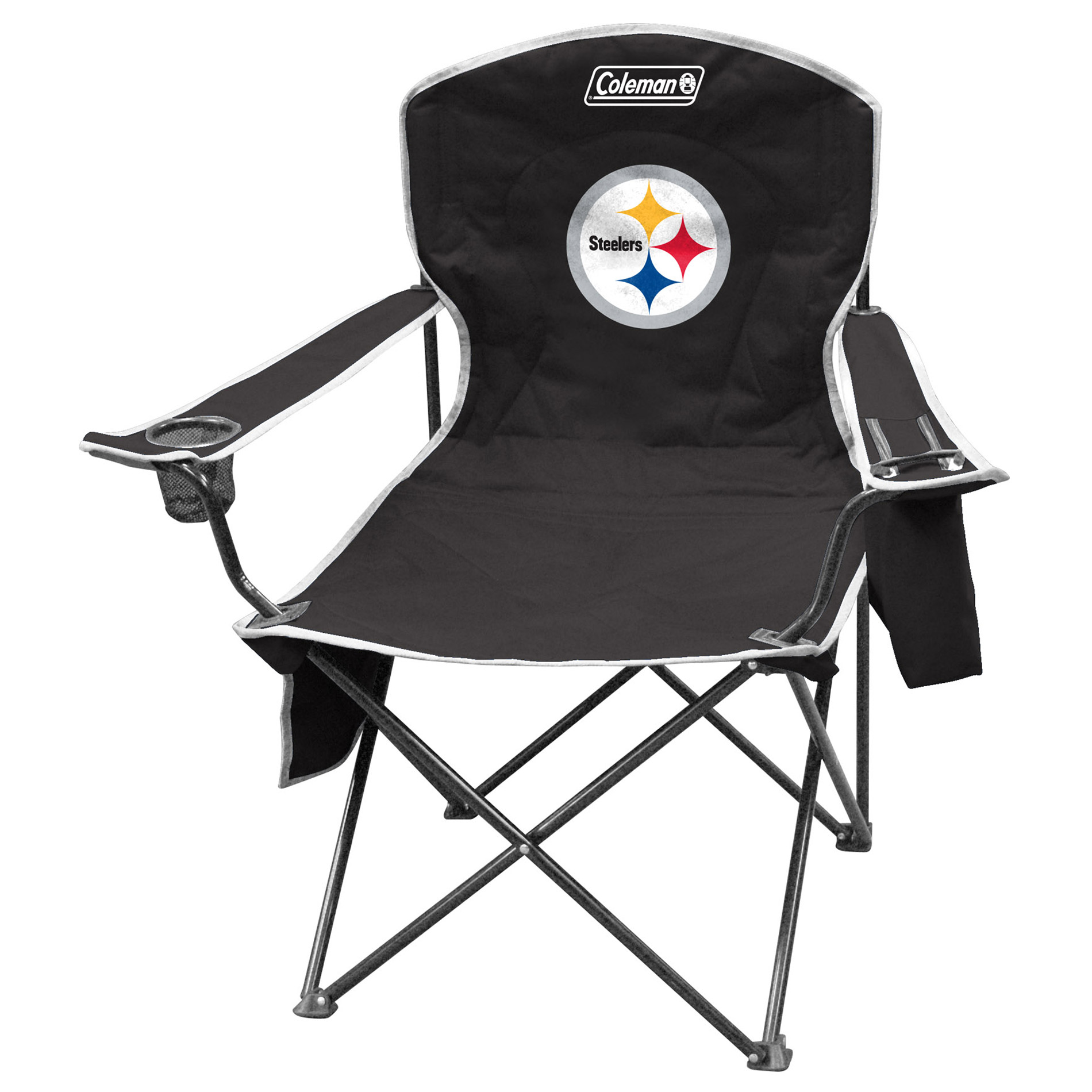 Tailgate Chairs Jarden Pittsburgh Steelers Xl Cooler Quad Chair Fitness
