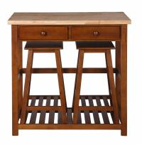 Home Styles Kitchen Island with Two Stools - Home ...
