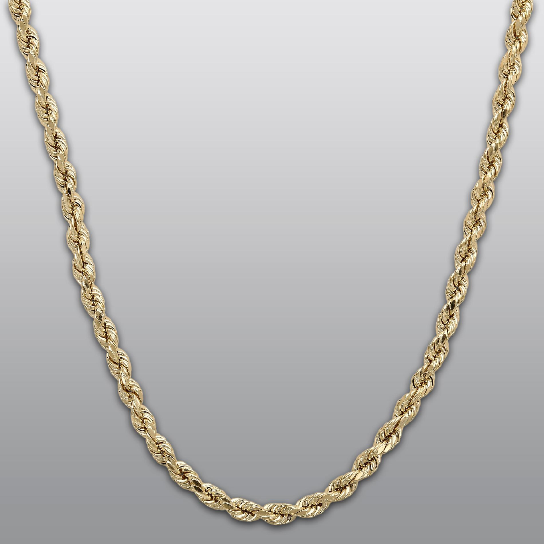 Karat Yellow Gold 18 2.0mm Hollow Rope Chain - Jewelry Pendants & Necklaces