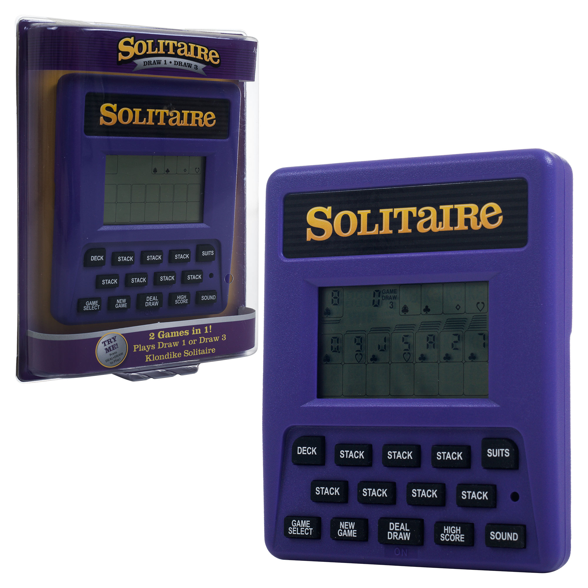 Trademark Games Electronic Handheld Solitaire Game - Toys