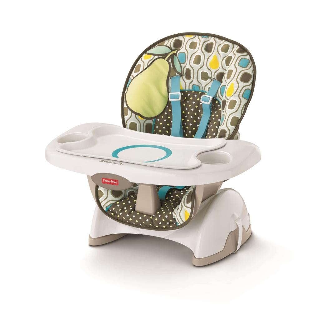 toddler high chair booster public seating chairs india fisher-price deluxe spacesaver - neutral