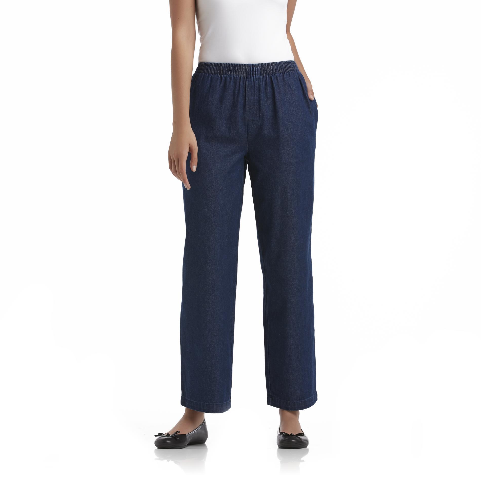 Basic Editions Womens Denim Pants