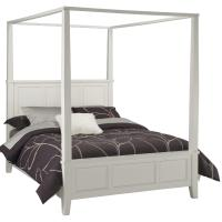 Home Styles Bedford Black King Canopy Bed - Home ...