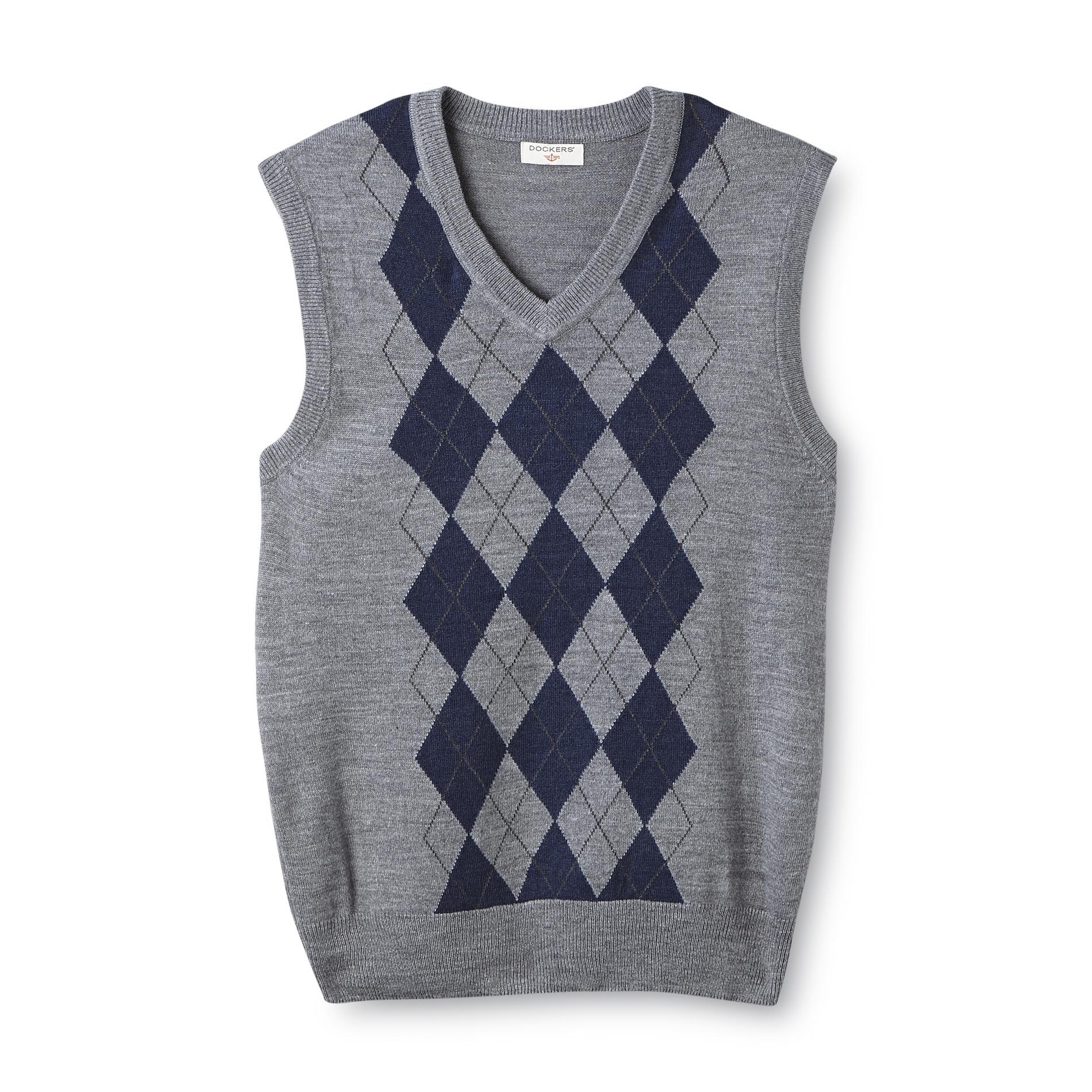 Dockers Men' Soft Touch Sweater Vest - Argyle