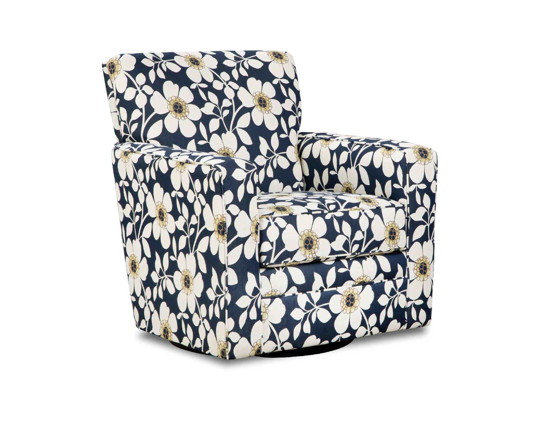 Floral Chair Simmons Upholstery Floral Print Chicklet Upholstered