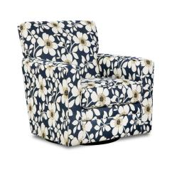 Floral Print Accent Chairs Rustic Metal Dining Simmons Upholstery Chicklet Upholstered