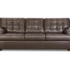 Leather Sofa Bed Sears Online Set In India Simmons Dark Brown Three Seat