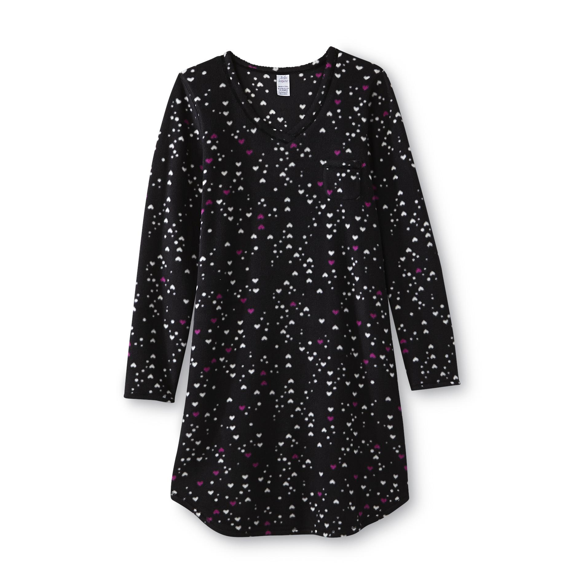 Jaclyn Intimates Women' Microfleece Nightshirt - Heart Clothing