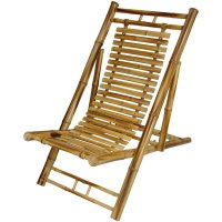 Oriental Furniture Japanese Bamboo Folding Chair