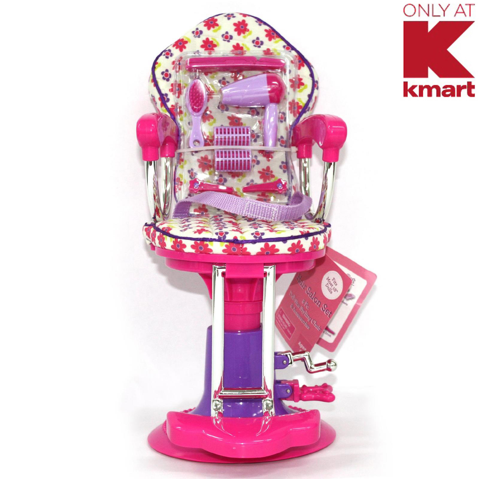 doll salon chair folding daiso 18 quot sized 8 piece styling and accesories kmart