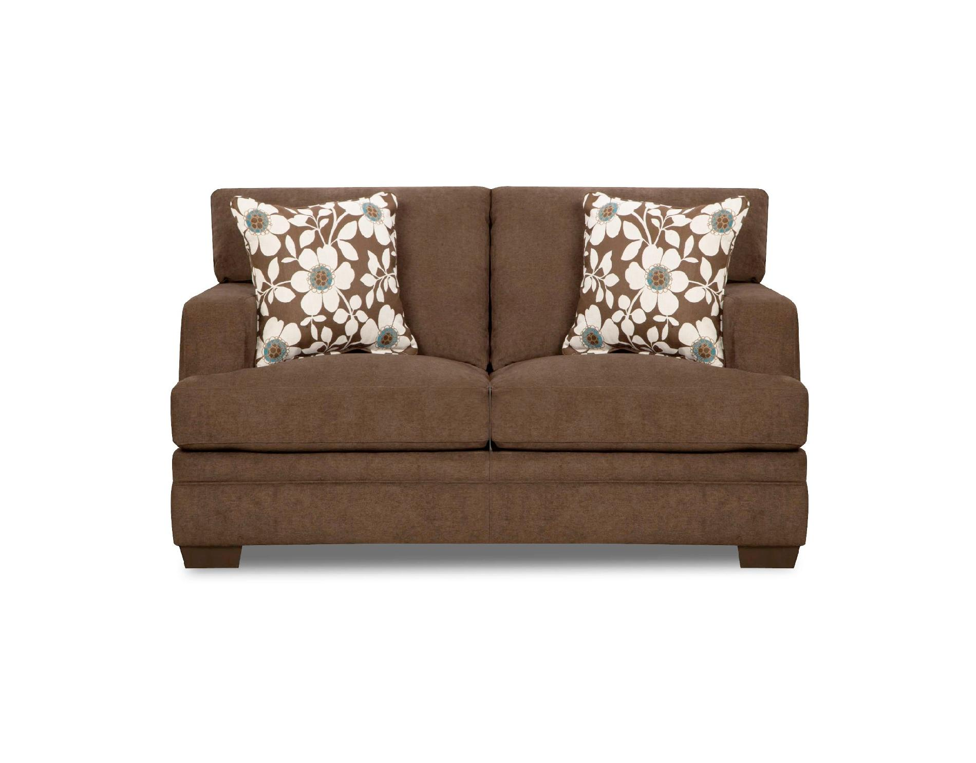 sears twin sleeper sofa how to make an awesome fort simmons upholstery brown chicklet transitional loveseat