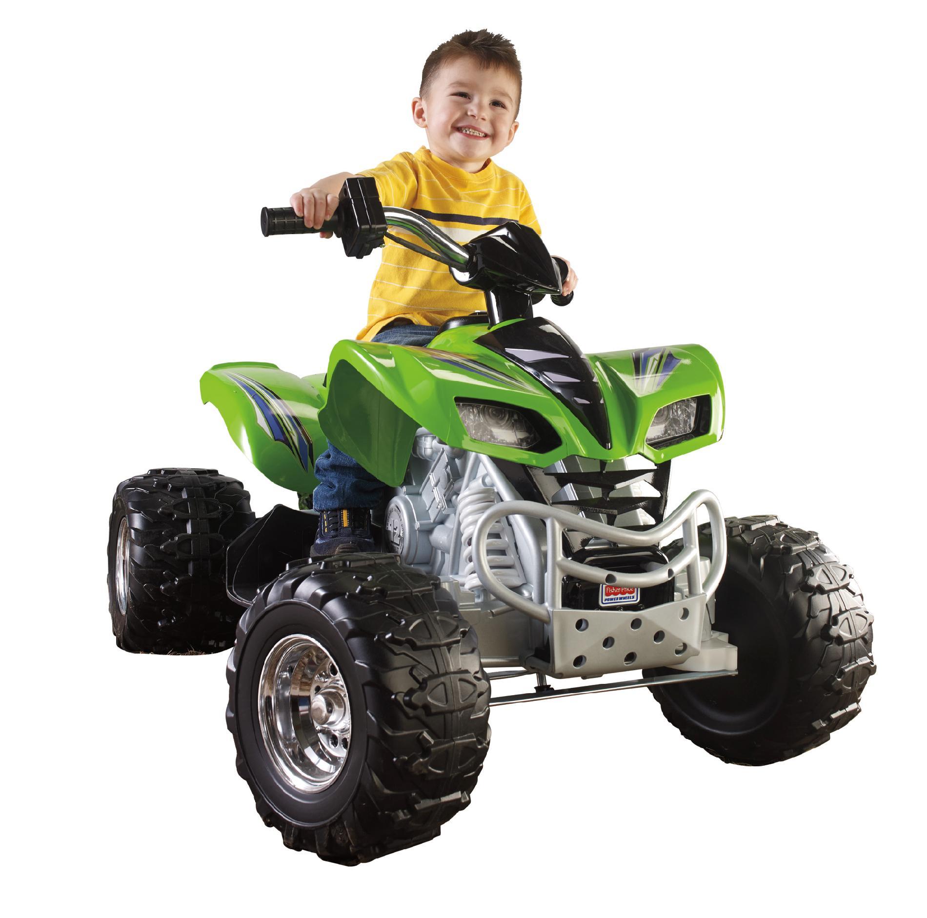Power Wheels 12v Battery Toy Ride- - Kawaskai Kfx Green