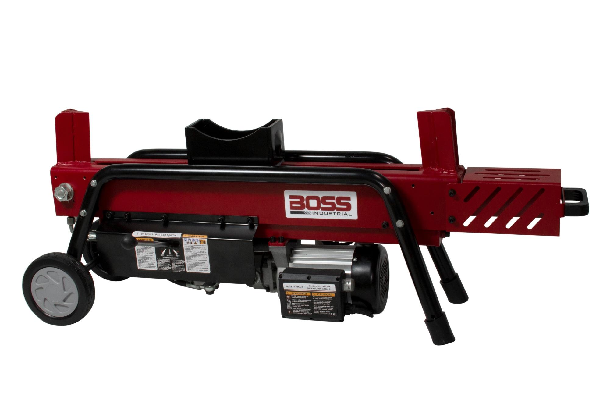 Boss Industrial Ed8t20 8 Ton Electric Log Splitter