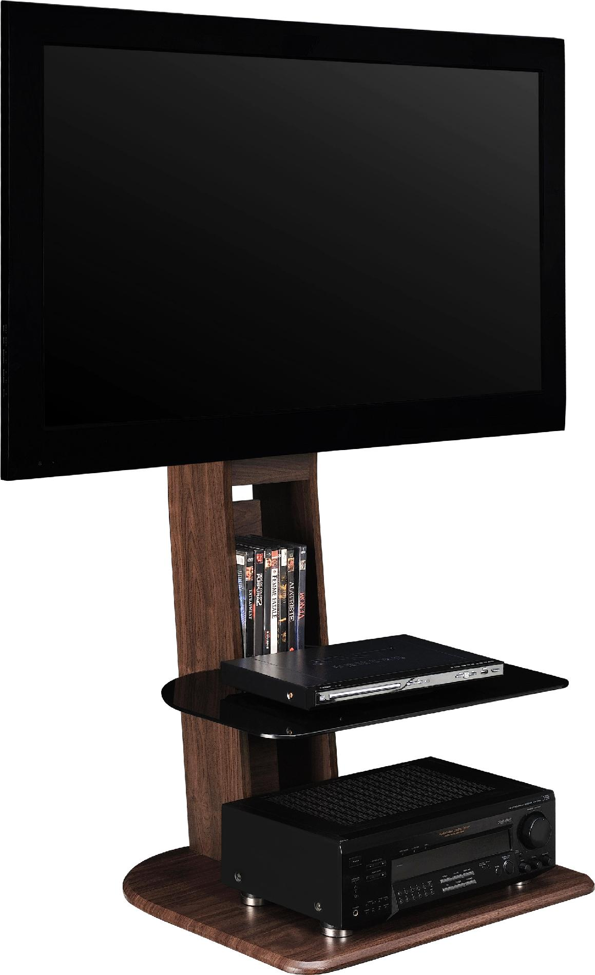 Dorel Home Furnishings Walnut Galaxy TV Stand With Mount
