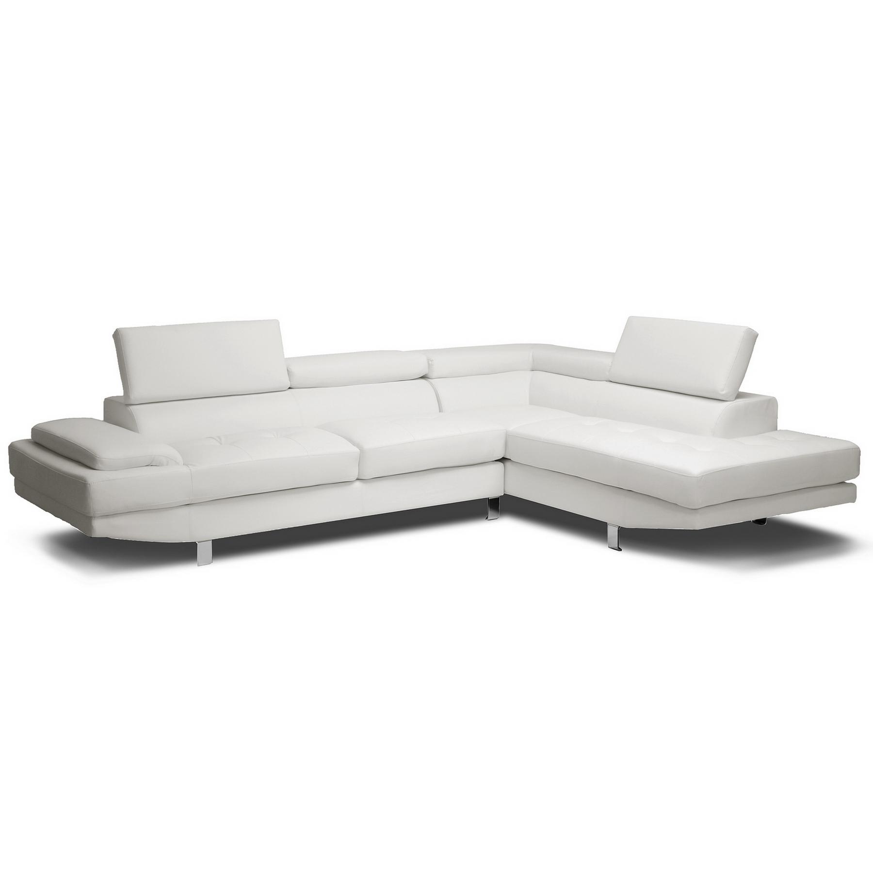 baby sofa chair malaysia bed single uk baxton studio selma white leather modern sectional