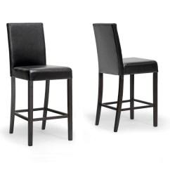 Bar Stool Chair Malaysia Kids Plastic Chairs Baxton Studio Set Of Two Torino Dark Brown Modern