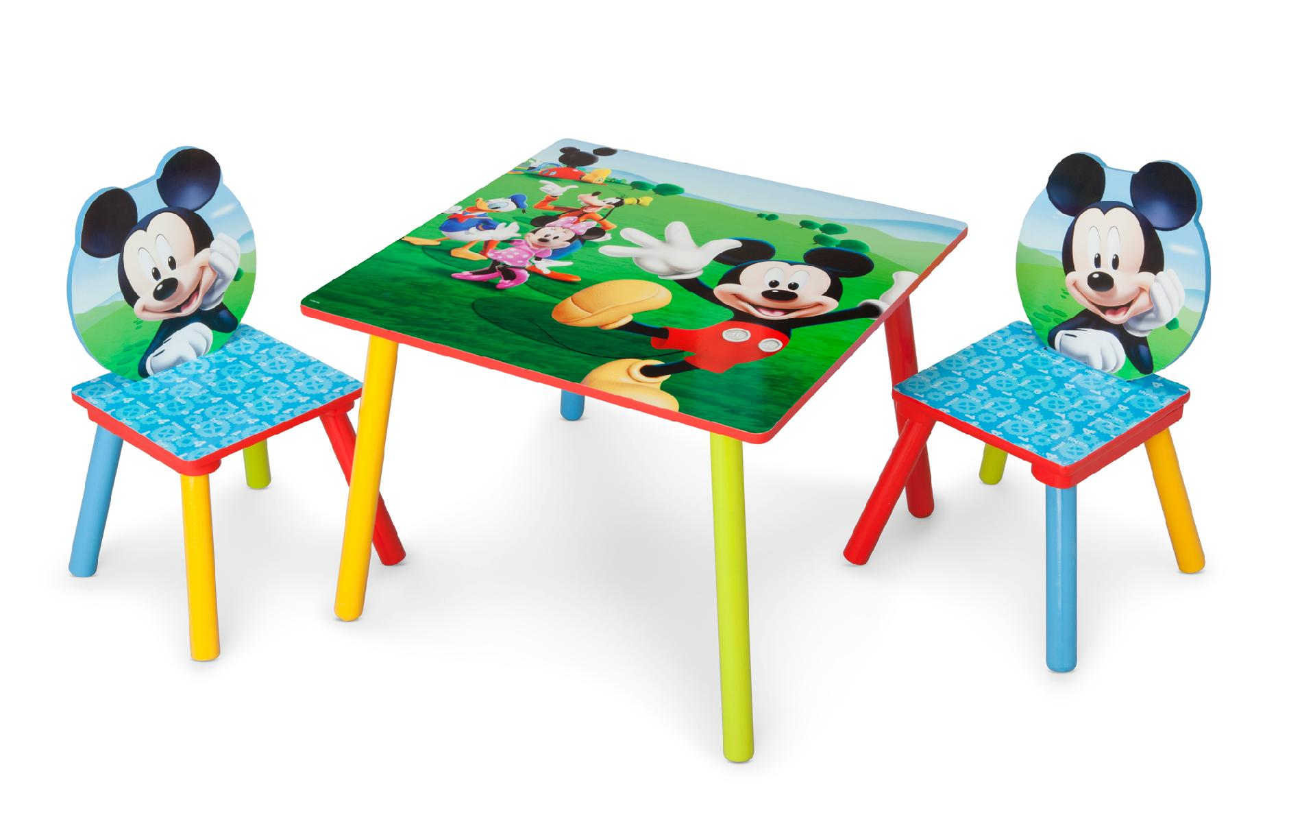 kids table and chair set kmart white chairs for weddings delta children disney mickey mouse